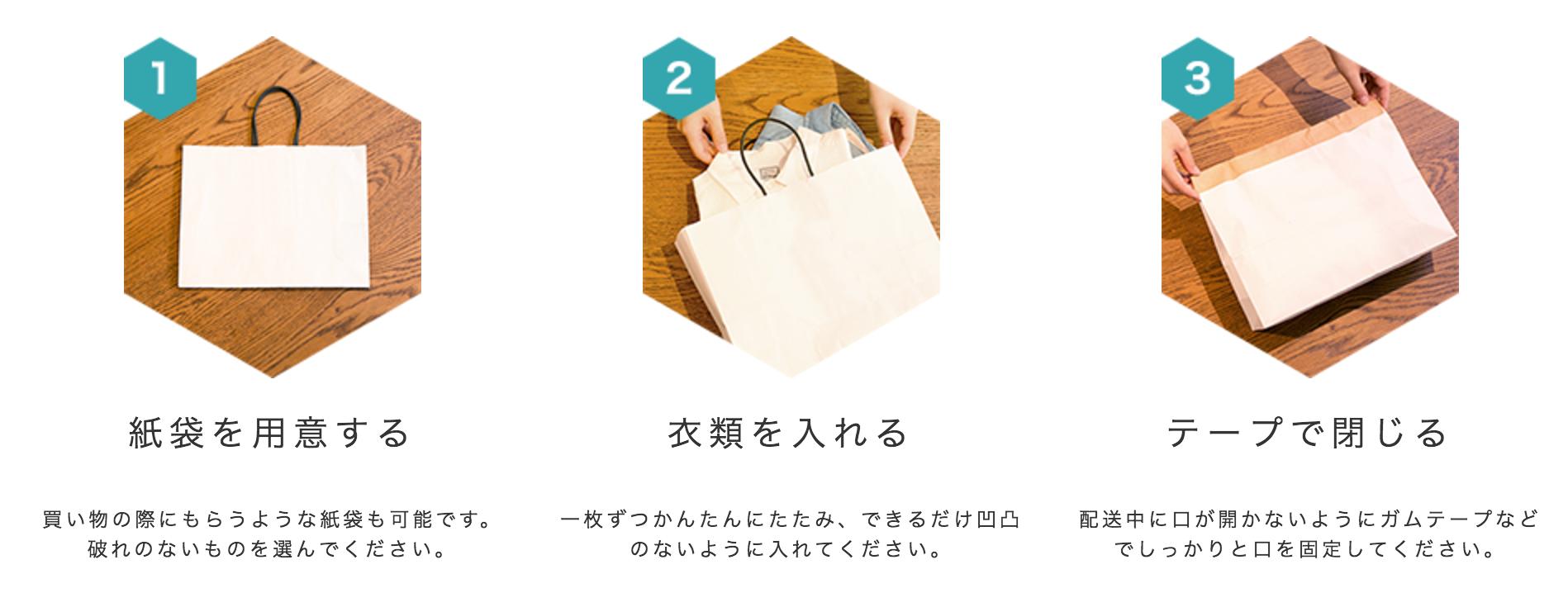 紙袋で梱包する方法