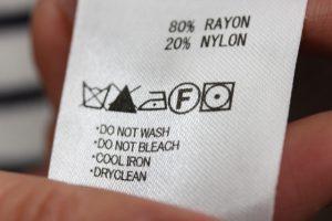 洗濯表示のタグ