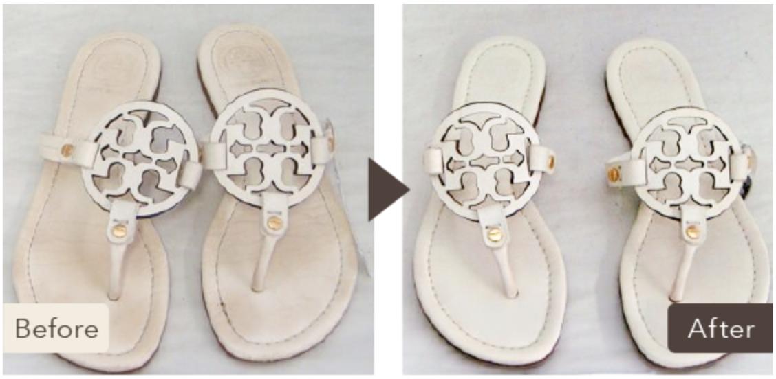レディースサンダルを靴リネットでクリーニングに出した一例